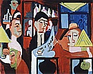 Cafe in Davos, 1928 - Ernst Kirchner reproduction oil painting