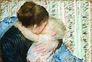A Goodnight Hug - Mary Cassatt reproduction oil painting