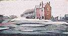 Lonely House - L-S-Lowry reproduction oil painting