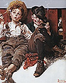 But Wait til Next Week!, 1920 - Fred Scraggs reproduction oil painting