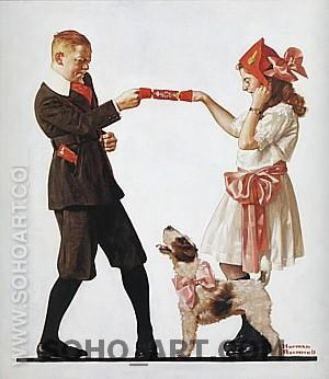 The party Favor, 1919 - Fred Scraggs reproduction oil painting