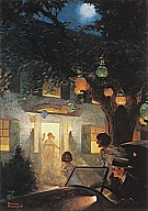 And the Symbol of Welcome Is Light, 1920 - Fred Scraggs reproduction oil painting