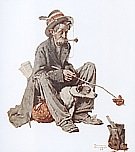 Hobo and Dog, 1924 - Fred Scraggs reproduction oil painting