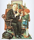 Doctor and Doll, 1929 - Fred Scraggs reproduction oil painting
