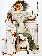 Woman at Vanity (Girl Getting Ready for Date), 1933 - Fred Scraggs reproduction oil painting