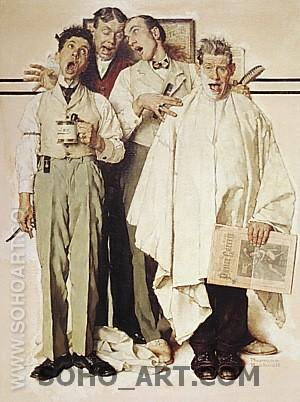 Barbershop Quartet, 1936 - Fred Scraggs reproduction oil painting
