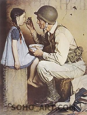 The American Way, 1944 - Fred Scraggs reproduction oil painting