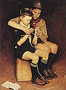 A Guiding hand, 1946 - Fred Scraggs reproduction oil painting
