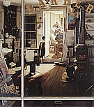 Shuffleton's Barbershop, 1950 - Fred Scraggs reproduction oil painting