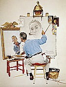 Triple Self-Portrait, 1960 - Fred Scraggs reproduction oil painting