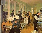 The Cotton Exchange in New Orleans 1873 - Edgar Degas reproduction oil painting