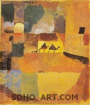 Two Camels and Dromedary - Paul Klee reproduction oil painting