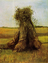 Sheaves of Wheat, 1883 - Vincent van Gogh reproduction oil painting
