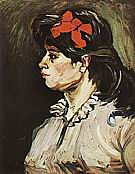 Portrait of a Woman in Profile, 1885 - Vincent van Gogh reproduction oil painting
