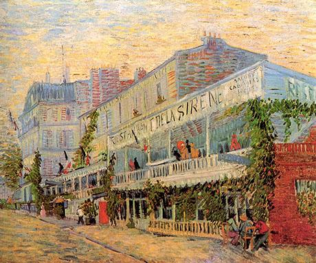 The Restaurant de la Sirene at Asnieres, 1887 - Vincent van Gogh reproduction oil painting