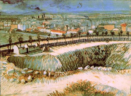 Outskirts of Paris near Montmartre, 1887 - Vincent van Gogh reproduction oil painting