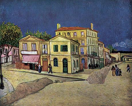 The Yellow House, Place Lamartine, Arles, 1888 - Vincent van Gogh reproduction oil painting