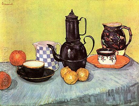 Still Life with Coffee Pot, 1888 - Vincent van Gogh reproduction oil painting
