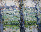View of Arles with Orchard 1889 - Vincent van Gogh reproduction oil painting