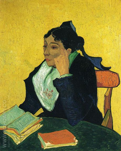 Madame Ginoux ('L'Arlesienne'), 1888 - Vincent van Gogh reproduction oil painting