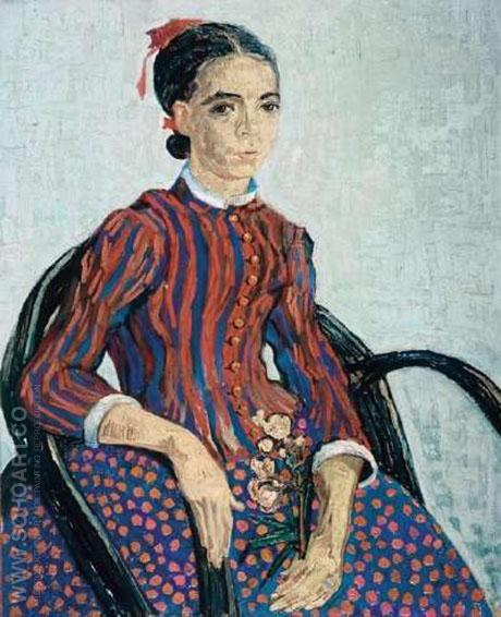 Portrait of a Girl 'La Mousme', 1888 - Vincent van Gogh reproduction oil painting