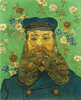 Portrait of the Postman Joseph Roulin, 1889 - Vincent van Gogh reproduction oil painting