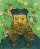 Portrait of the Postman Joseph Roulin, 1889 - Vincent van Gogh reproduction oil painting