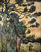 Fir-woods at Sunset, 1889 - Vincent van Gogh reproduction oil painting