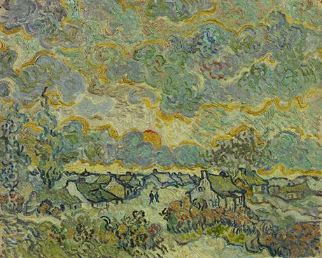 Winter Landscape Memories of the North - Vincent van Gogh reproduction oil painting