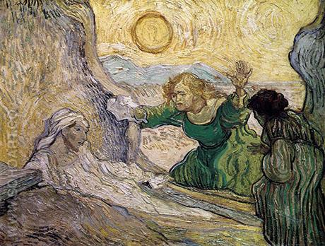 A Scene from The Raising of Lazarus, after the etching by Rembrandt, 1890 - Vincent van Gogh reproduction oil painting