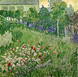 Daubigny's Garden at Auvers, 1890 - Vincent van Gogh reproduction oil painting