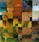 Red and White Domes - Paul Klee reproduction oil painting