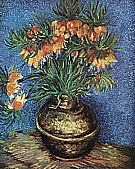 Flowers (Fritillaries) in a Copper Vase, 1887 - Vincent van Gogh reproduction oil painting