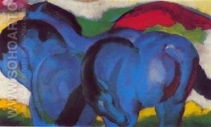 The Little Blue Horses 1911 - Franz Marc reproduction oil painting