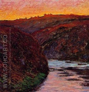 Valley of the Creuse, Sunset 1889 - Claude Monet reproduction oil painting
