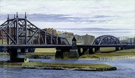 Macomb's Dam Bridge, 1935 - Edward Hopper reproduction oil painting
