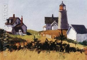 Monhegan Lighthouse, 1916-1919 - Edward Hopper reproduction oil painting
