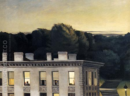 House At Dusk, 1935 - Edward Hopper reproduction oil painting