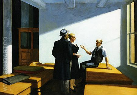 Conference At Night, 1949 - Edward Hopper reproduction oil painting