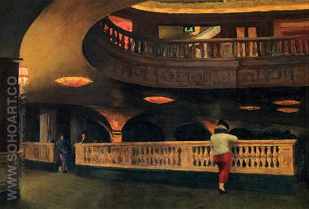 The Sheridan Theatre, 1937 - Edward Hopper reproduction oil painting