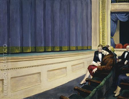 First Row Orchestra, 1951 - Edward Hopper reproduction oil painting