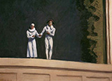 Two Comedians, 1966 - Edward Hopper reproduction oil painting