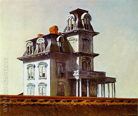 House By The Railroad, 1925 - Edward Hopper reproduction oil painting