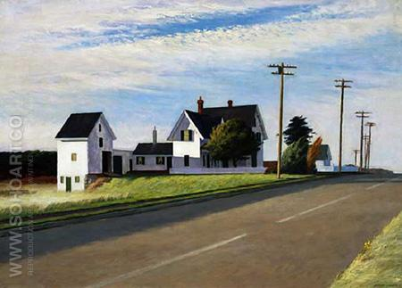 Route 6, Eastham, 1941 - Edward Hopper reproduction oil painting