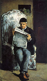 Louis Auguste Cezanne, the Artist's Father, Reading L'Evenement, 1866 - Paul Cezanne reproduction oil painting
