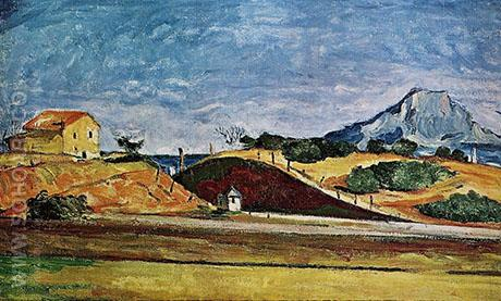 The The Railway Cutting c1867 - Paul Cezanne reproduction oil painting