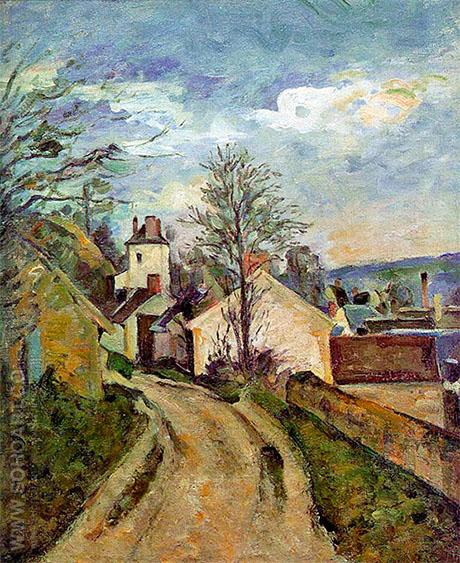 The House of Dr Gachet in Auvers c1873 - Paul Cezanne reproduction oil painting