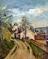 The House of Dr Gachet in Auvers c1873 - Paul Cezanne