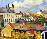 Roofs c1877 - Paul Cezanne reproduction oil painting