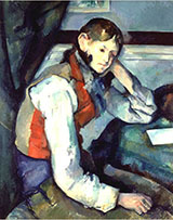 Boy in a Red Waistcoat - Paul Cezanne reproduction oil painting